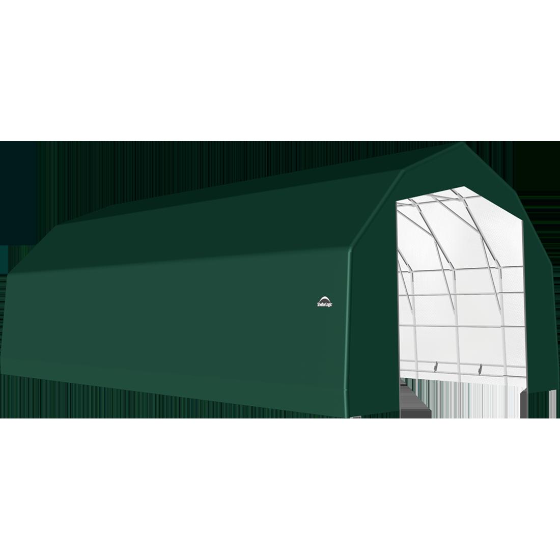 SP Barn 25X40X17 Green 14 oz PE Shelter