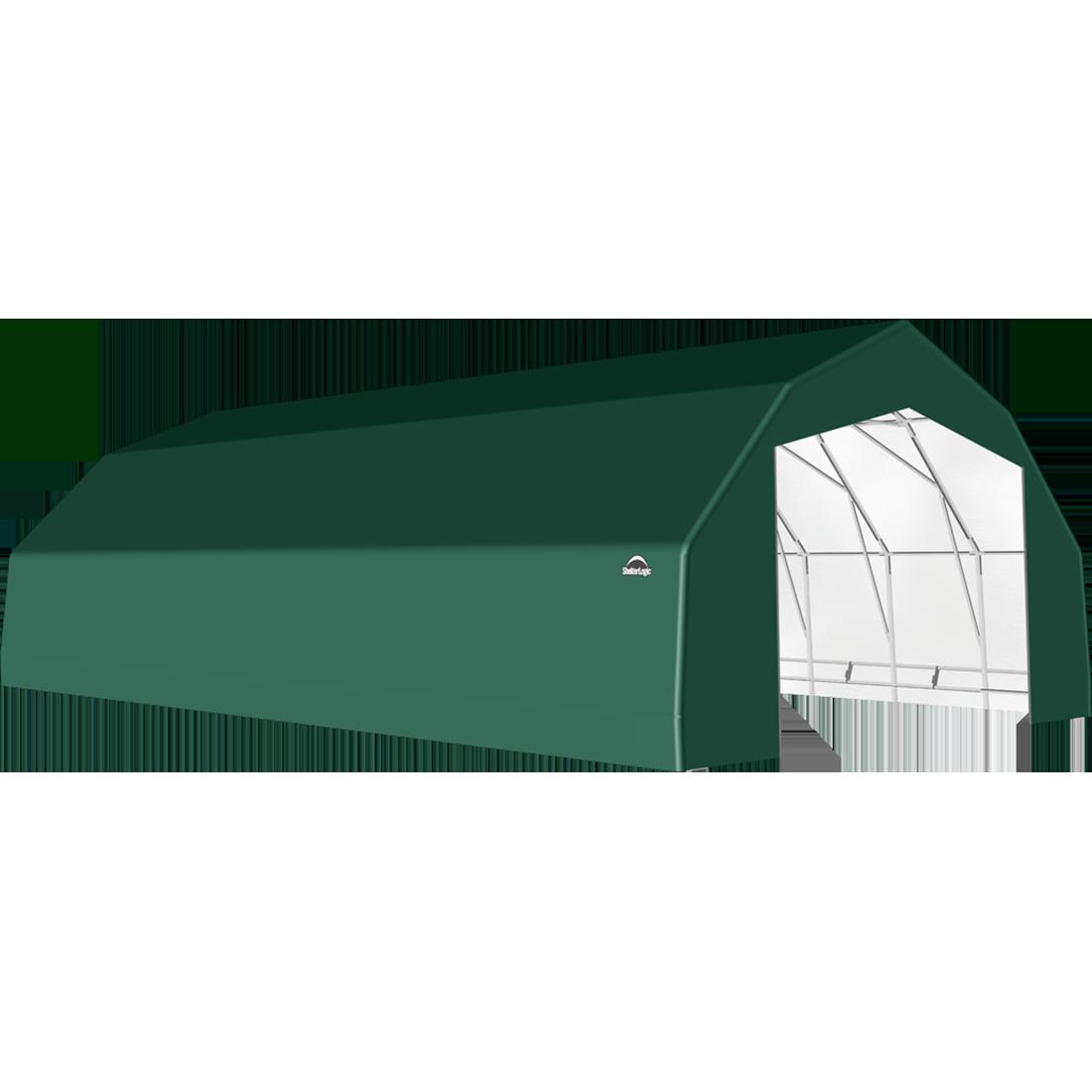 ShelterTech SP Series Barn Shelter, 25 ft. x 48 ft. x 14 ft. Heavy Duty PVC 14.5 oz. Green