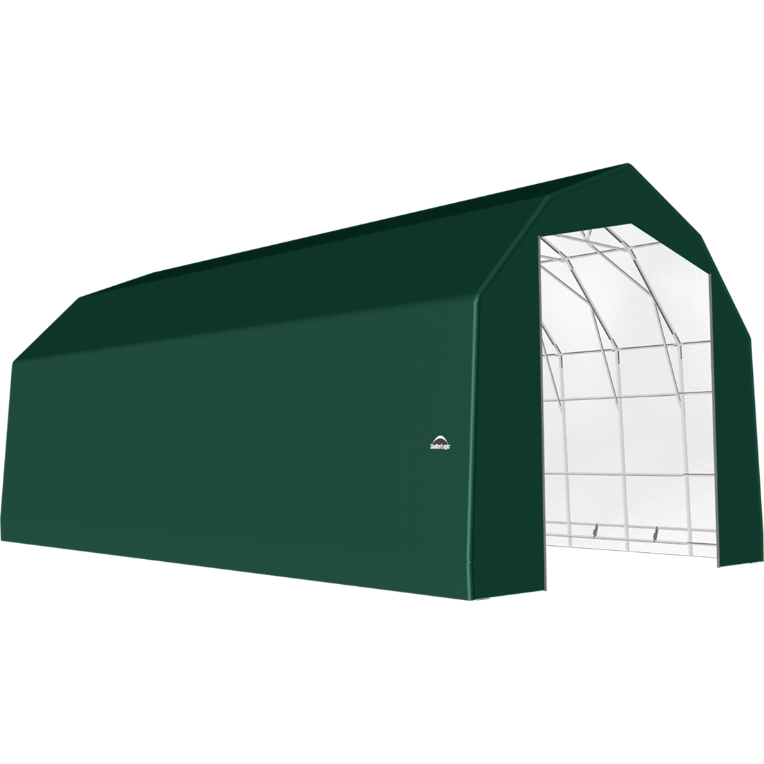 ShelterTech SP Series Barn Shelter, 25 ft. x 48 ft. x 20 ft. Heavy Duty PVC 14.5 oz. Green