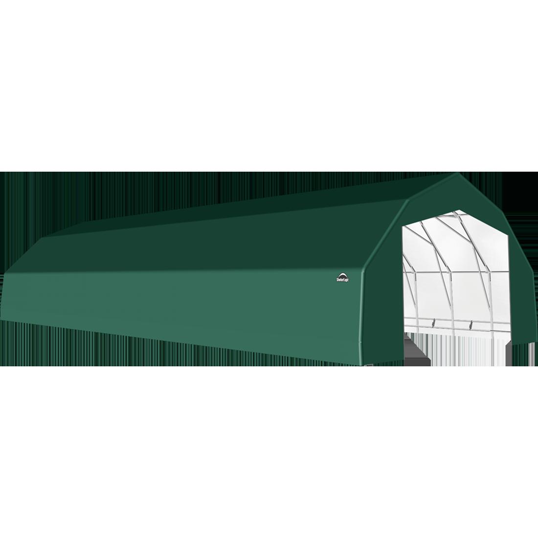ShelterTech SP Series Barn Shelter, 25 ft. x 60 ft. x 14 ft. Heavy Duty PVC 14.5 oz. Green