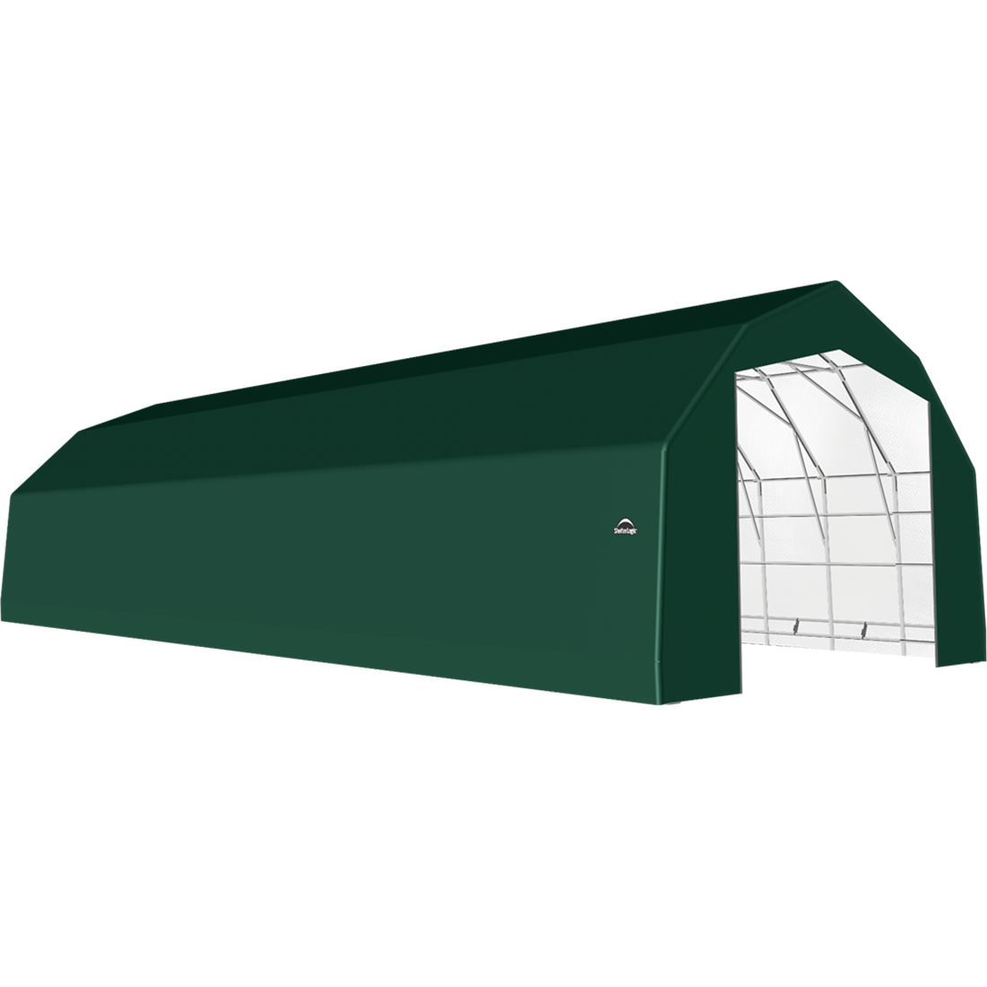SP Barn 25X60X17 Green 14 oz PE Shelter