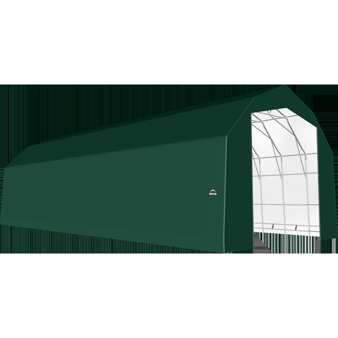 SP Barn 25X64X20 Green 14 oz PE Shelter