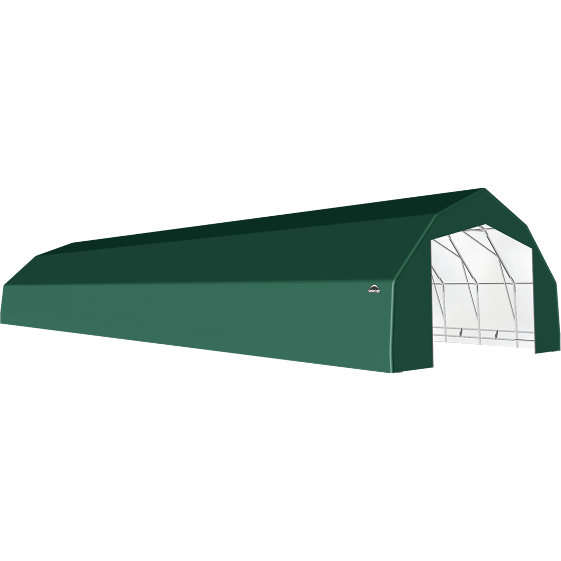 SP Barn 25X72X14 Green 14 oz PE Shelter