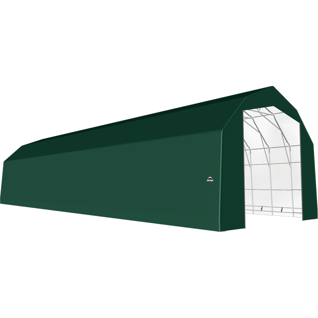 SP Barn 25X72X20 Green 14 oz PE Shelter