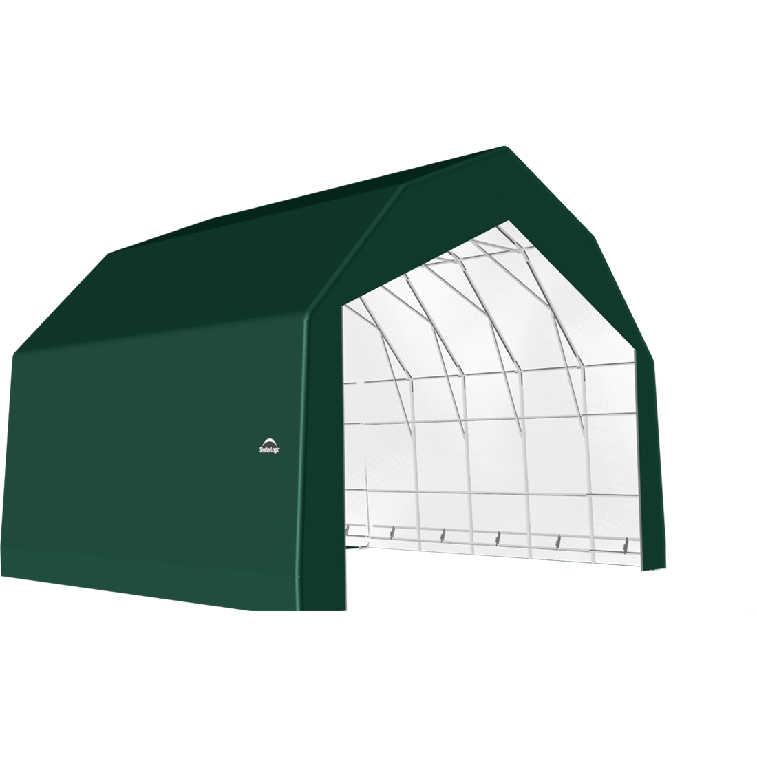 SP Barn 30X20X21 Green 14 oz PE Shelter