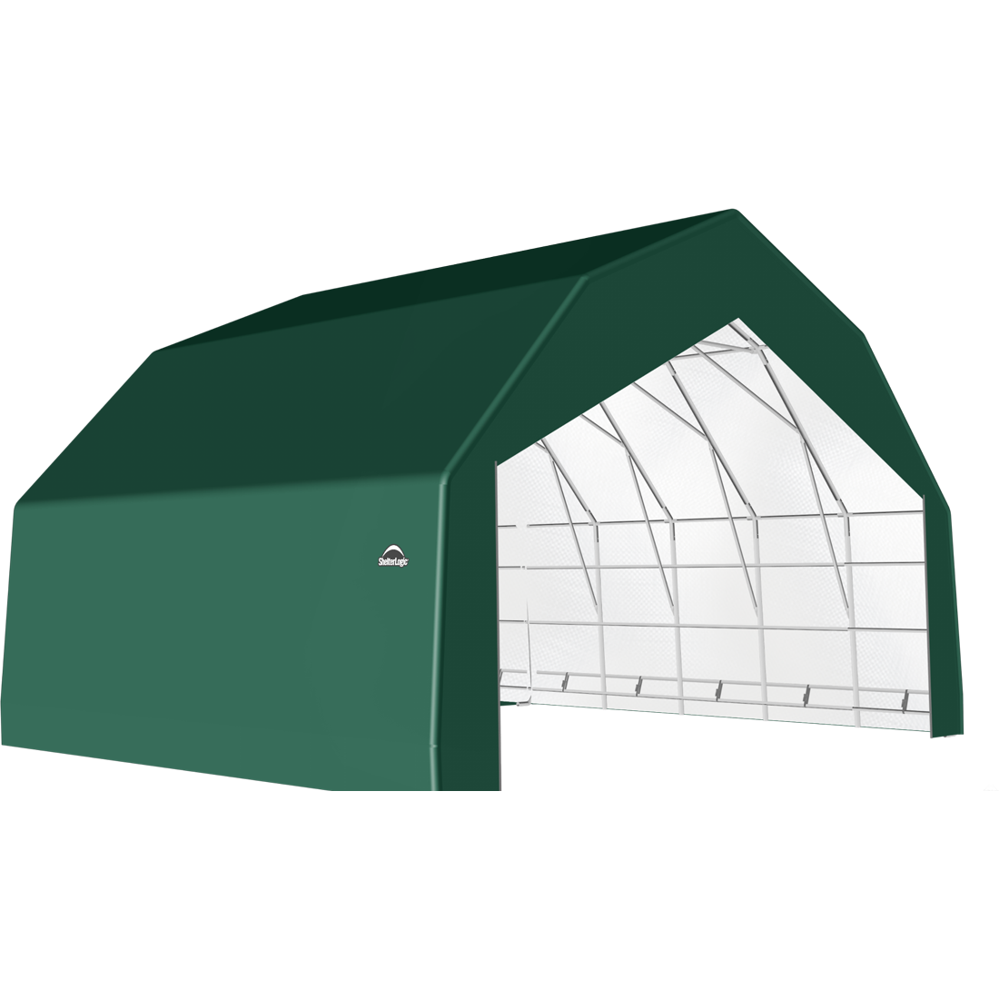 SP Barn 30X24X18 Green 14 oz PE Shelter