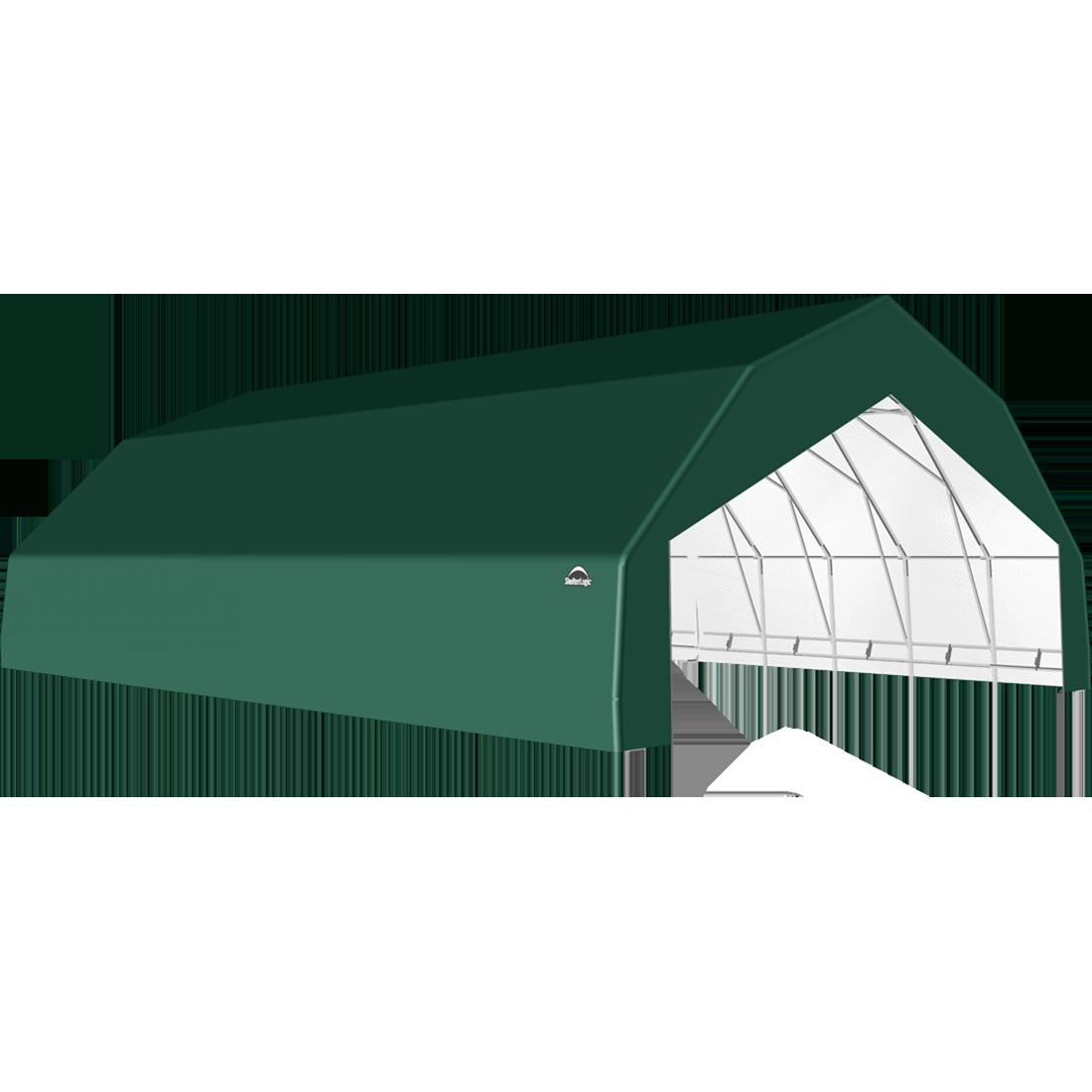 SP Barn 30X40X15 Green 14 oz PE Shelter
