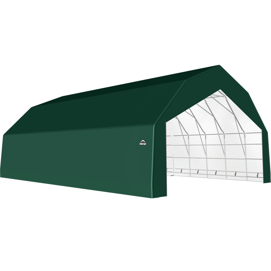 ShelterTech SP Series Barn Shelter, 30 ft. x 44 ft. x 18 ft. Heavy Duty PVC 14.5 oz. Green