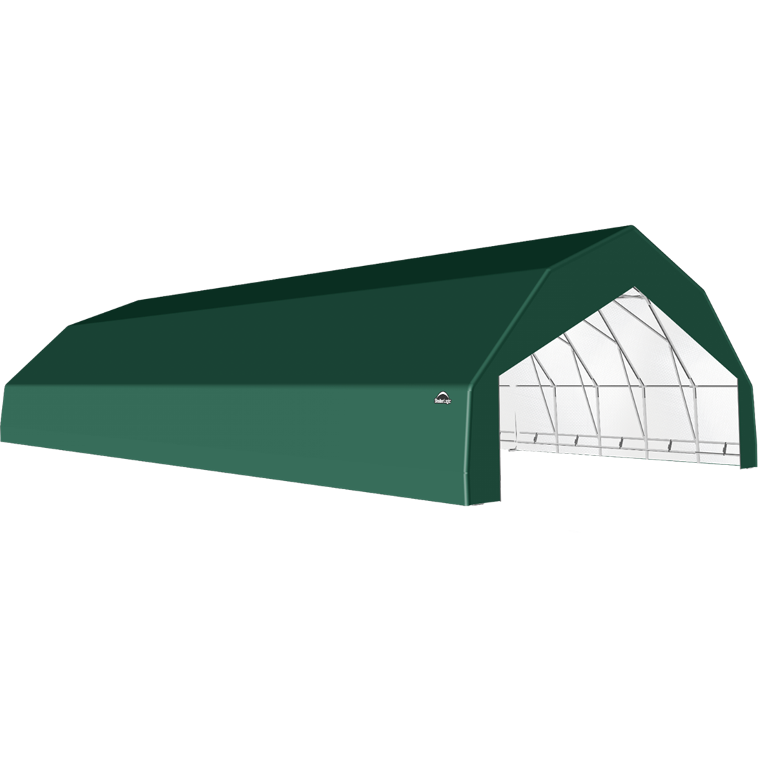 ShelterTech SP Series Barn Shelter, 30 ft. x 60 ft. x 15 ft. Heavy Duty PVC 14.5 oz. Green