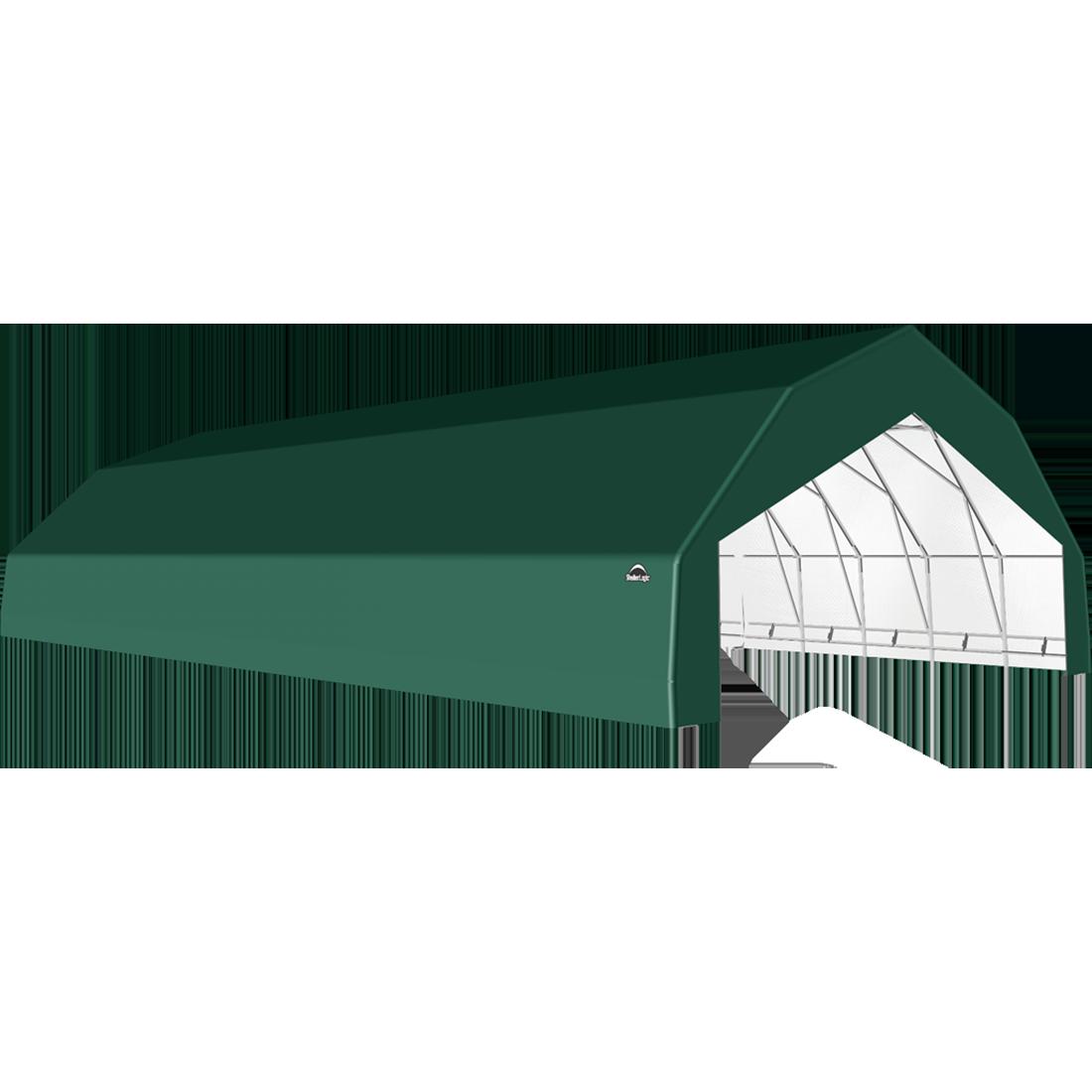 SP Barn 30X64X15 Green 14 oz PE Shelter