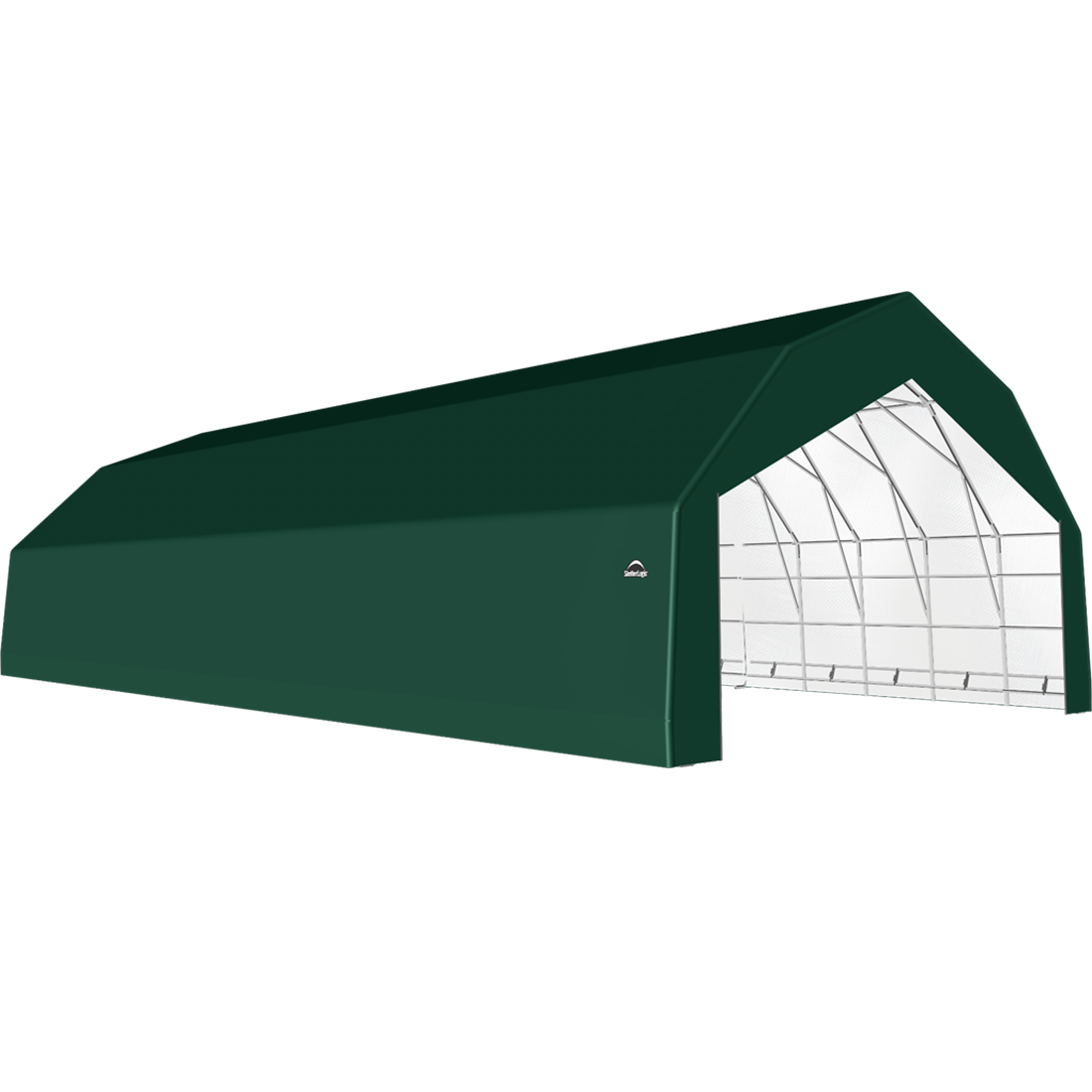 ShelterTech SP Series Barn Shelter, 30 ft. x 64 ft. x 18 ft. Heavy Duty PVC 14.5 oz. Green