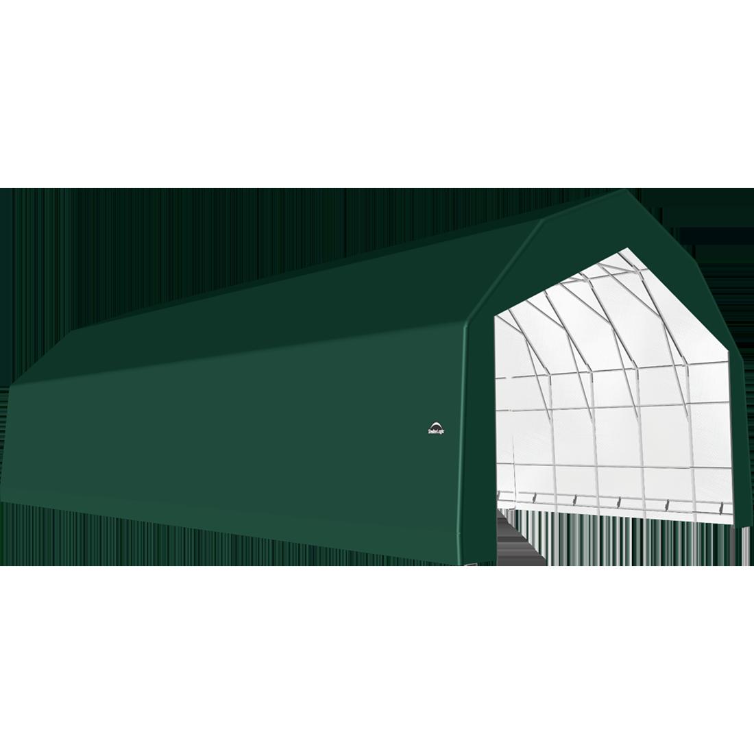 SP Barn 30X64X21 Green 14 oz PE Shelter