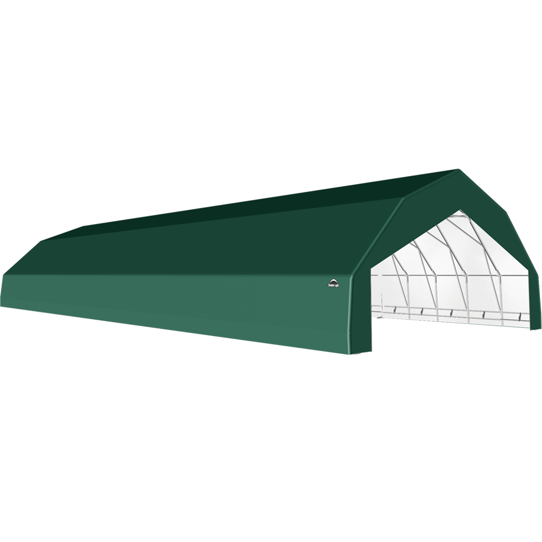 SP Barn 30X72X15 Green 14 oz PE Shelter