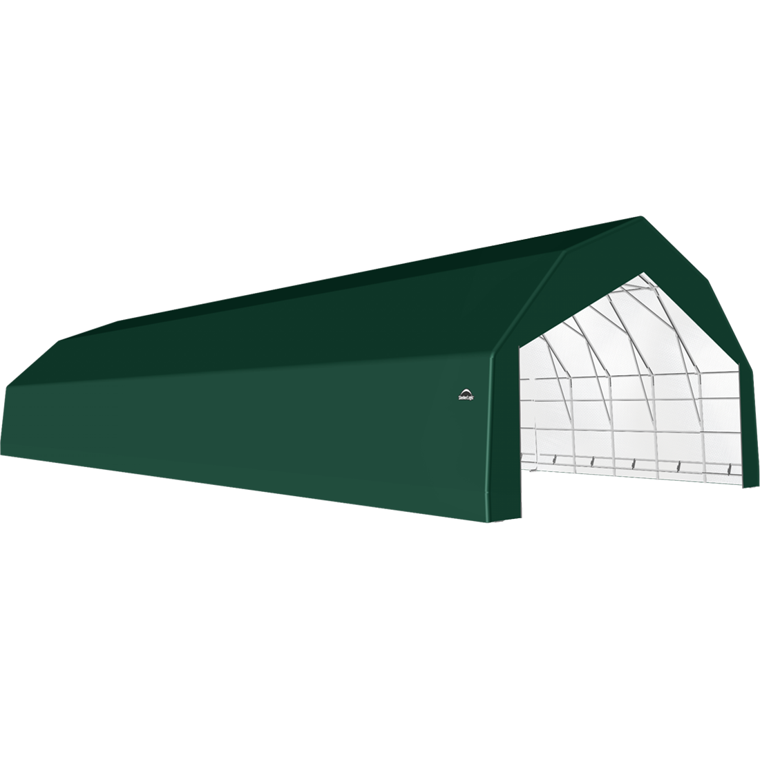 SP Barn 30X72X18 Green 14 oz PE Shelter
