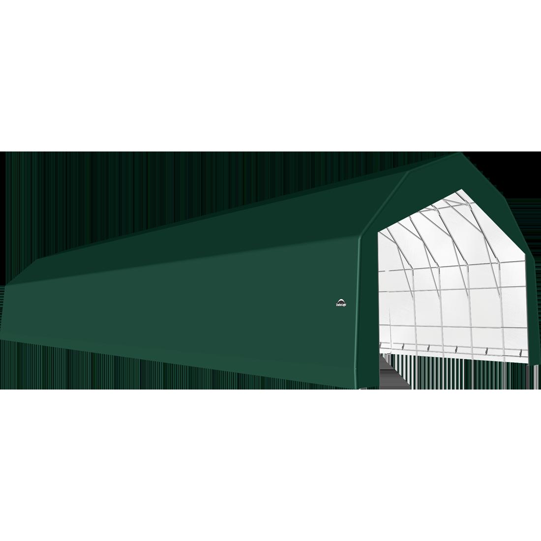 SP Barn 30X92X21 Green 14 oz PE Shelter